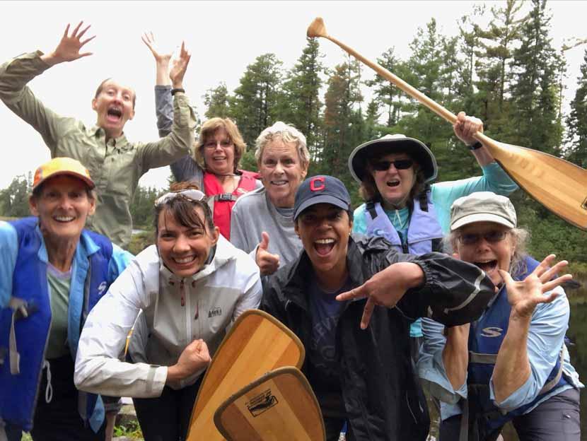 canoe-trip-women-boundary-waters-group